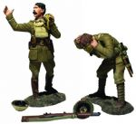 "WB23116 ""Gas Lads! Gas!"" British Off. Yells while Soldier Dons Mask 1917-18"